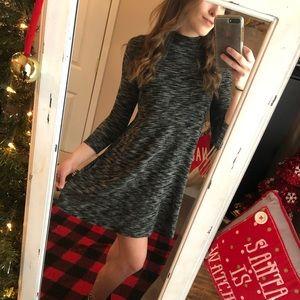 Grey & Black Swing Dress — Women's S